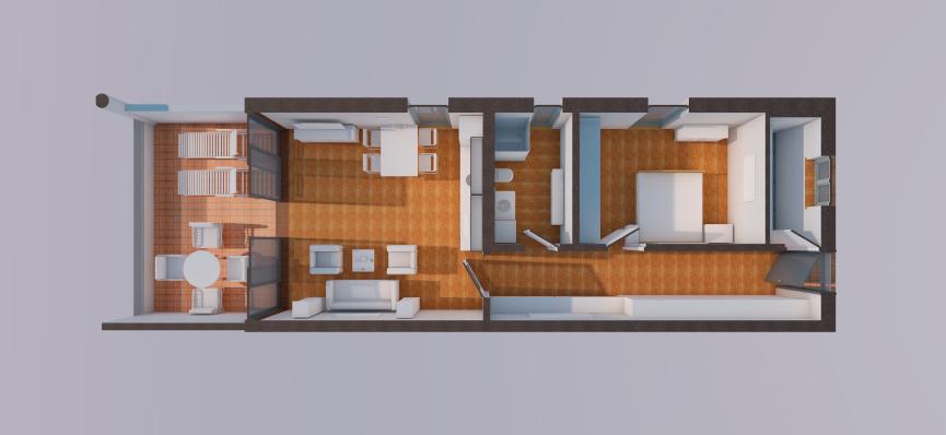 Wohnen am Mettenbach - 2 Zimmer Grundriss